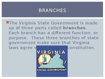 Virginia Studies VS.10a Virginia State Government