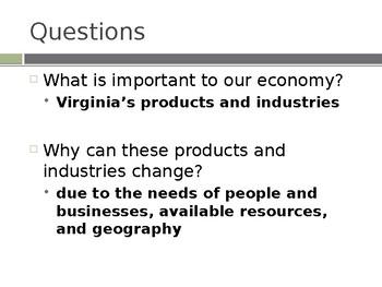 Virginia Studies VS.10b Virginia's Products and Industries