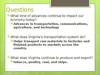 Virginia Studies VS.10c Virginia's Current Economy