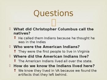 Virginia Studies VS.2d American Indians PPT