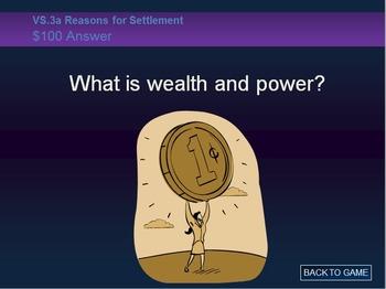 Virginia Studies (VS.3) Jamestown Jeopardy Review Game