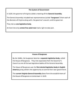 Virginia Studies VS.3a,b,c,d Study Guide Interactive