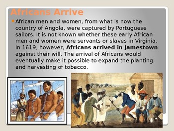 Virginia Studies VS.3e & 4a: (Africans, Women, and Tobacco) Powerpoint