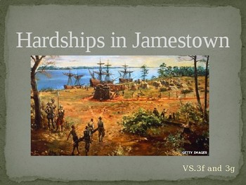 Virginia Studies VS.3f & VS.3g Hardships in Jamestown
