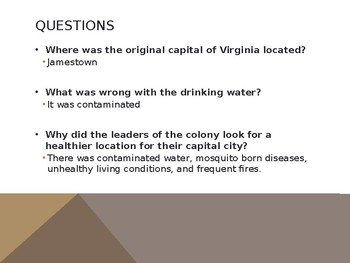 Virginia Studies VS.4c and VS.5d Capital Cities of Virginia
