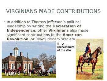 Virginia Studies VS.5b Virginians and the Revolution Powerpoint