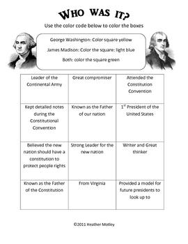 Virginia Studies: VS.6a: George Washington and James Madison