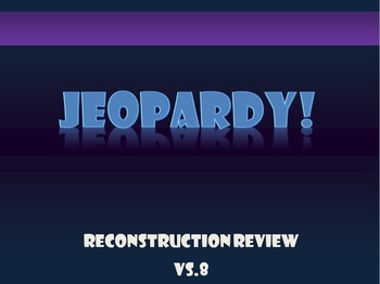 Virginia Studies VS.8 Review Jeopardy Game