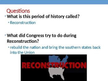 Virginia Studies VS.8a Reconstruction after the Civil War