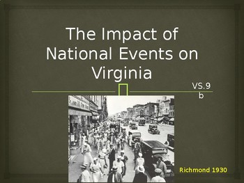Virginia Studies VS.9b&d Contributions in the 20th and 21st Cent.
