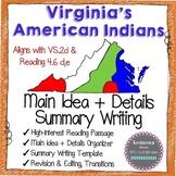 Virginia Indians Language Groups Summarizing Reading & Writing 4.6d,e
