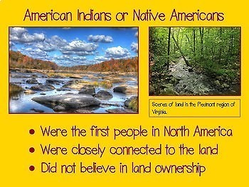 Virginia Studies Virginia Indians PowerPoint Slide Show & Game  VS.2d,e,f,g