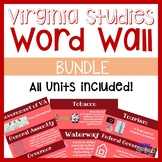 Virginia Studies Vocab Word Wall BUNDLE