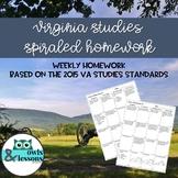 Virginia Studies Weekly Homework