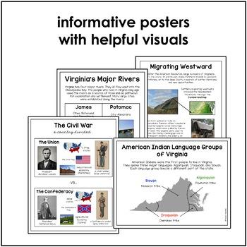 Virginia Studies Word Wall/Poster Sets Bundle (VS.2-10)