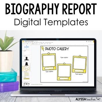 digital biography report in google slides by alyssa teaches tpt
