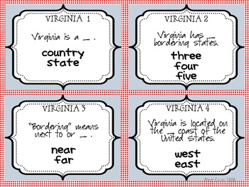 Virginia StudiesTask Cards and Passage Overviews for VS 2a