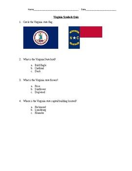 Virginia Symbols Quiz