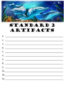 Virginia Teacher Evaluation Portfolio (TPES Binder) Dolphin Theme