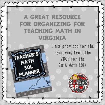 Virginia Teacher Planner SOL Math 2017