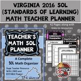 Virginia Teacher Planner SOL Math 2016 Aligned