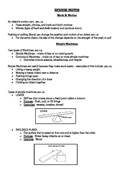 Virginia Third Grade SOL Comprehensive Science Review Materials