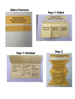Virginia Today Virginia Studies Interactive Notebook