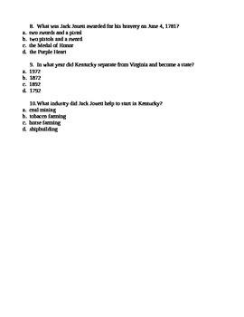 """Virginia Trekkers' Podcast Quiz """"Jack Jouett"""""""