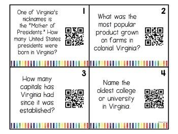 Virginia Studies Trivia Bulletin Board Set