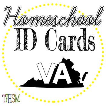 Virginia (VA) Homeschool ID Cards for Teachers and Students