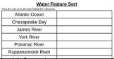 Virginia Water Features Drag and Drop - Virginia Studies