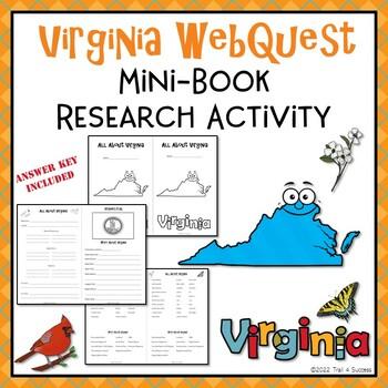 Virginia Webquest Common Core Research Mini Book