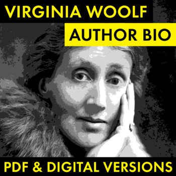 Virginia Woolf Author Study Worksheet, Easy Biography Activity, CCSS