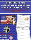 Virginia in American Revolution Passages & Questions {Digi