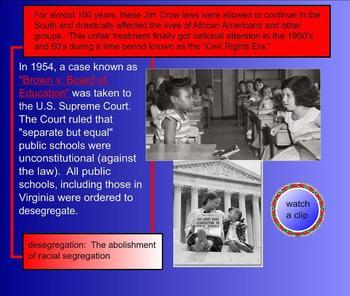 Virginia Studies SMARTboard Lesson - VA in the 20th Century - VS.9 - whole unit!