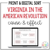 Virginia in the American Revolution Cause & Effect Activity (VS.5)