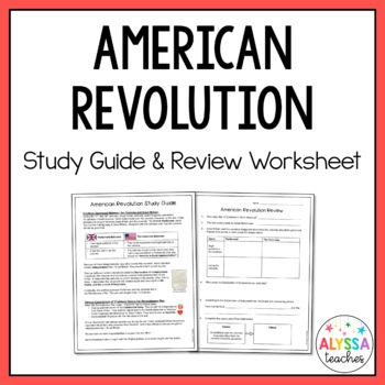 Virginia in the American Revolution Study Guide and Review Worksheet (VS.5)