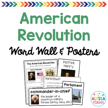 Virginia in the American Revolution Word Wall/Poster Set (VS.5)