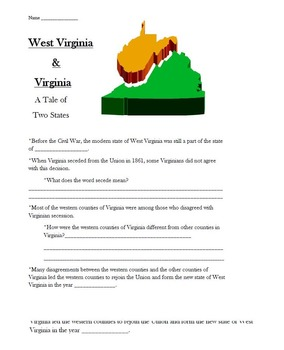 Virginia in the Civil War Instructional Packet -