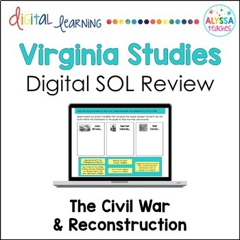 Virginia in the Civil War & Reconstruction Google Drive Review (VS.7 & VS.8)