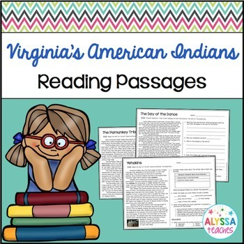 Virginia's American Indians Reading Passages and Questions (VS.2d-g)