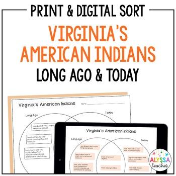 Virginia's American Indians Venn Diagram Sort