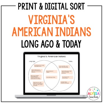 Virginia's American Indians Venn Diagram Sort