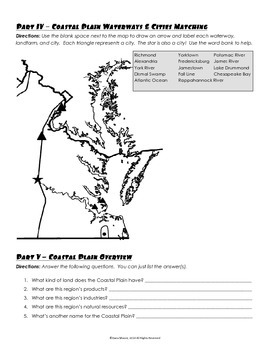 Virginia 's Borders and Coastal Plain Region Review