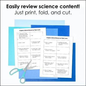 Virginia's Natural Resources Flash Cards