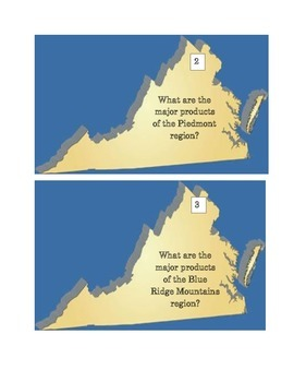 Virginia's Products and Industries Task Cards