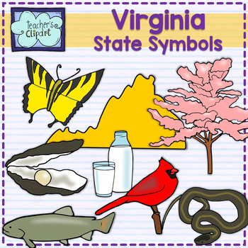 Virginia State Symbols Clipart By Teachers Clipart Tpt