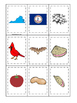 Virginia themed Memory Matching and Word Matching preschool curriculum game