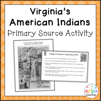 Virginia's American Indians Primary Source Activity (VS.2d-g and VS.3g)