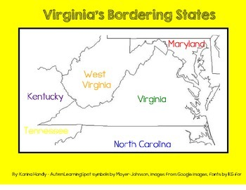 Virginia Bordering States Teaching Resources Teachers Pay Teachers